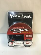 "Rockford Fosgate RFBTRCA Universal Bluetooth 1/8"" to RCA Adaptor Car Audio NEW"
