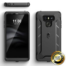 For LG G6 Case w/Built-in-Screen Protector Double Layers Shockproof Cover Black