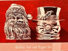 Vintage Wallace Silversmith Silver Plated Holiday Salt And Pepper Set