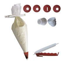 10 x Einweg Spritzbeutel (Länge 340 mm) mit 4 Tüllen + 1 Verschlusstülle +1 Klip