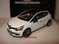 NOREV COFFRET RENAULT CLIO R.S. 220 EDC TROPHY WHITE WITH BLACK ROOF au 1/43°