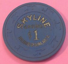 SKYLINE CASINO ~  $1 CASINO CHIP ~ HENDERSON, NEVADA ~ 1980'S ~ VINTAGE!