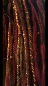 MERLOT Hand crocheted double ended synthetic dreadlocks