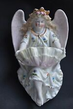 Beautiful painted &gilded german porcelain (probably Meissen) holy water font