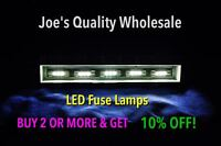 (6)WHITE LED FUSE LAMP-8v-SX-626 525 424 SX-535 SX727 SX434 DIAL METER Pioneer