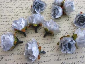 """24 Poly Silk Rose Rosebud 1.5"""" Flower Floral Craft/wedding/Corsage H299-Color"""