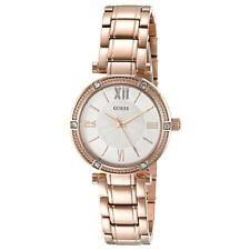Guess U0767L3 Women's Rose Gold Steel Bracelet White Dial Watch