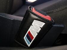 2 COPRI attacchi CINTURA sedile cuscini NERO logo auto BMW X1 X3 X5 M1 M3 M5 M6