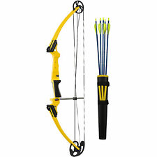 New listing Genesis Original Bow with Kit Archery Left Handed LH Yellow Beginner 5 Arrows