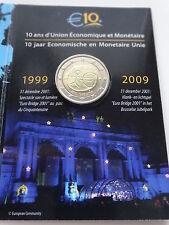 Coin / Munt 2009 Belgie 2 Euro10 Jaar Economische en Monetair Unie in Europa