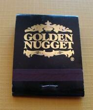 Vintage Golden Nugget Casino Black & Gold Matchbook Full - New Old Stock