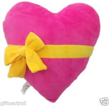 "USA SELLER Emoji Pillow 11""Inch Large Pink Emoticon(Heart with Ribbon) Yellow"