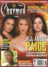 Charmed  Magazine 5 All About Paige  Rose McGowan Zankou Posters Brad Kern NM