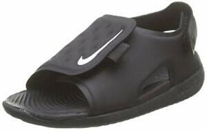 Nike Sunray Adjust 5 Kids Toddler Slide Sandal Aj9077-001 Size 6 Black/White