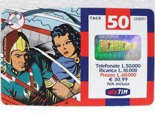 """SCHEDA TELEFONICA RICARICARD-""""FLASH GORDON e DALE""""-VAL. Lire 50.000-sc. FEB 2002"""