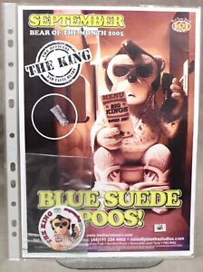 """BAD TASTE BEARS OFFICIAL POSTER AND BADGE FOR SEPT 2005 - """"THE KING"""" - NO 129."""