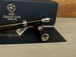 Montegrappa UEFA Champions League UCL Trophy Black M Fountain Pen