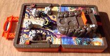 Matchbox 4 Wheeler Folding Play Set Rockslide Rescue School Box Toy Games Case
