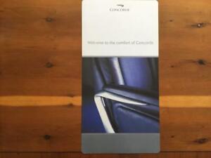 British Airways Concorde Original Seat Instruction Card Last Issue 2001 Rare