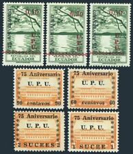 Équateur 529-531, C210-C213, Mnh.michel 725-731. UPU-75, 1949.San Pablo Lake,