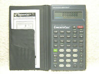 CALCULATED INDUSTRIES CONSTRUCTION MASTER CONCRETE CALC CALCULATOR W/ MANUAL