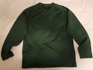 REI Long Sleeve Shirt - Base Layer Henley - Emerald Green - Men's XL - RN#37249