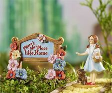 Wizard of Oz Dorothy and Toto Oz Garden Sign Resin Mini Set