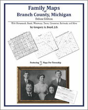 Family Maps Branch County Michigan Genealogy MI Plat