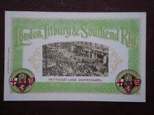POSTCARD LONDON TILBURY & SOUTHEND RAILWAY - PETTICOAT LANE WHITECHAPEL
