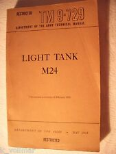 ✪ restricted Department Army technical manual light tank m24 tm9-729 May 1951!!!