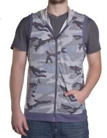 Bar III Men's Terry Cloth Camo Sleeveless Hoodie Sweatshirt Size Medium