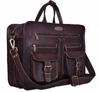 "Men's Messenger, 16"" Laptop Briefcase, Attache, Work Bag, Tote, Full Grain Bag"