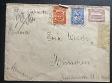 1880s Colombia Vintage Cover To Munich Germany