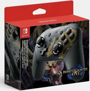 NINTENDO SWITCH PRO CONTROLLER MONSTER HUNTER RISE EDITION PRE ORDER 26/03/21