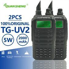 2pcs Quansheng TG-UV2 Walkie Talkie Dual Band Ham Mobile TG UV2 Two Way Radio
