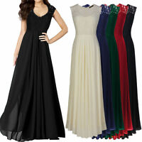 Abendkleid Ballkleid Partykleid Chiffon Kleid Schwarz Grün Navy Blau 34-46 BC325