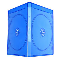10mm Blu Ray Logo Plastic Blue Case DVD CD BD Holder for TWO Disc Storage Cover