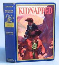 Kidnapped~Robert Louis Stevenson~HB~1932 Ed.~Color Illus.by Manning de V, Lee