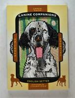 2017 UD Goodwin Champions Canine Patch #CC-16 English Setter