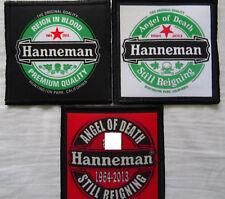 HANNEMAN SET of three patch! ANGEL OF DEATH STILL REIGNING 1964-2013 Aufnäher