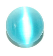 LIGHT BLUE CAT'S EYE FIBER OPTIC GLASS TIE PIN TACK (037)