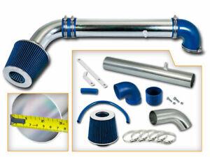 Short Ram Air Intake Kit +BLUE Filter for 97-06 Jeep Wrangler / TJ 2.5 4.0 L4 L6
