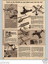 1966 PAPER AD GI Joe Helicopter With Sound Jet Airplane Wen Mac Navy Dive Bomber
