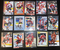 1990s NHL Autograph Signed Hockey 15 Card lot Calgary Flames Fleury Musil