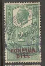 KIng George V - 2s Green - Foreign Bill - Used