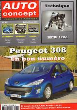 REVUE MAGAZINE AUTO CONCEPT N°75 07/08 2007 PEUGEOT 308 BMW 120D RENAULT TWINGO