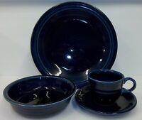 Fiesta Ware Cobalt Blue 5-Pc Setting - Plates, Bowl, Cup & Saucer