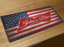Personnalisé À N'importe Quel Nom Drapeau Américain Bière Label bar tapis