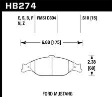 Hawk Ceramic Front Brake Pads For 99-04 Ford Mustang #HB274Z.610