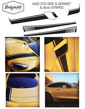 Mercedes AMG GTS Custom Bonnet and Boot decal set with side stripes